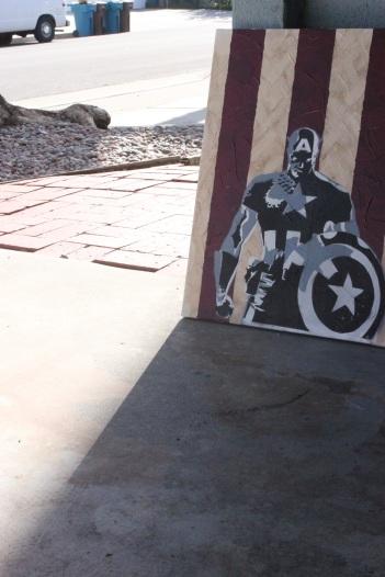 captain america - paul rossi painting 11