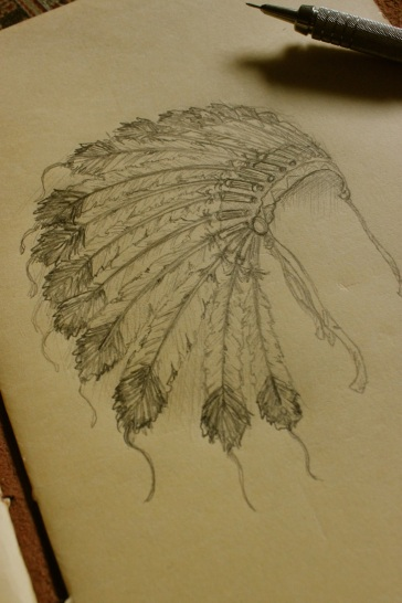 native sketch bonnet